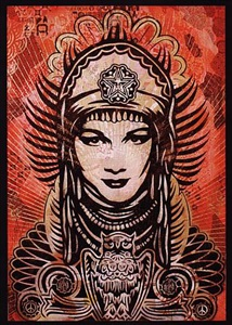 peace goddess by shepard fairey