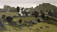 cottages deiniolen by sir kyffin williams