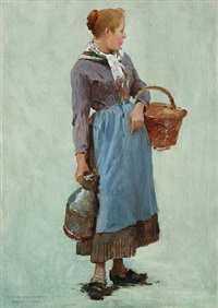 peasant girl by charles sprague pearce