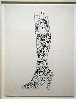 shoe and leg by andy warhol