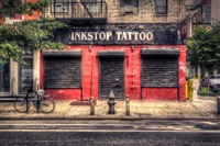 ink stop tattoo (+3 others; 4 works) by sally davies