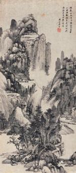 夏木山居 (landscape) by xue xuan