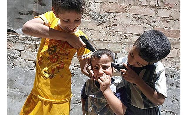 """iraq """"war games"""", baghdad, iraq, july 2 by hadi mizban"""