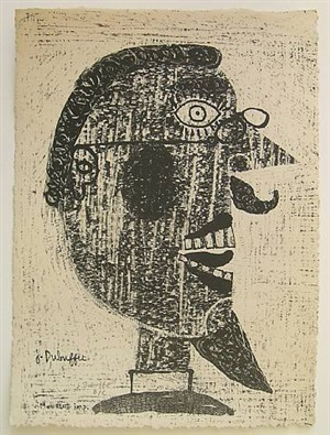 barbu a lunettes by jean dubuffet