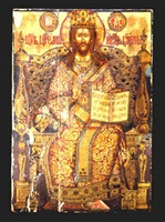 russian orthodox icon depicting christ as king