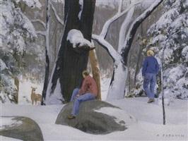 woodland encounter by alexander farnham