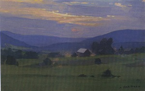 sunset over the hills - sold by alexander farnham