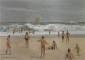 big waves at the beach by alexander farnham