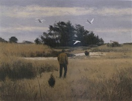 swans over the marsh - sold by alexander farnham