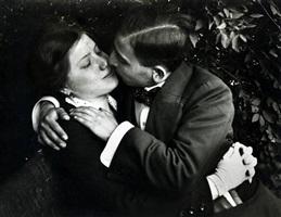 lovers, budapest, hungary, 1915 by andré kertész