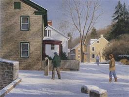 winter in lumberville by alexander farnham