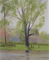 along the river bank by alexander farnham
