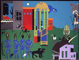 circe's domain by romare bearden