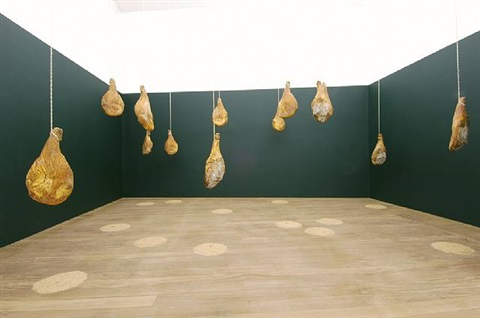 untitled (thirteen pigs) by haim steinbach