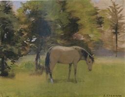 horse in the meadow by alexander farnham