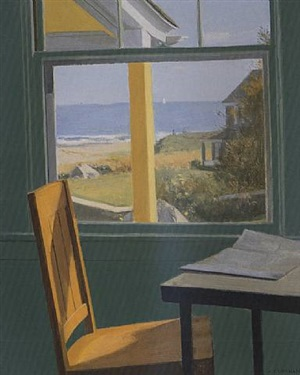 view of the beach, watch hill, ri - sold by alexander farnham