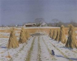 crow in the cornfield by alexander farnham