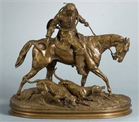 huntsman from the time of louis xv by pierre jules mêne