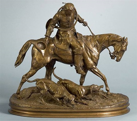 huntsman from the time of louis xv by pierre jules mène