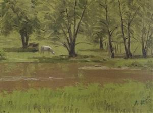 afternoon grazing by alexander farnham
