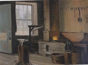 blacksmith's shop by alexander farnham