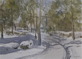winter road (the sketch) by alexander farnham