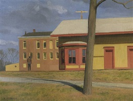 waiting for the train, frenchtown r.r. station by alexander farnham