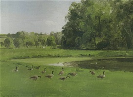 field of geese by alexander farnham