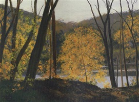 delaware river, late afternoon - sold by alexander farnham