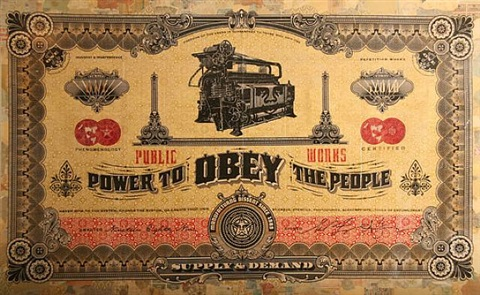 two sides of capitalism: good by shepard fairey