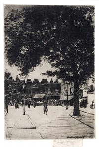 the sign of the white horse, parson's green by theodore casimir roussel