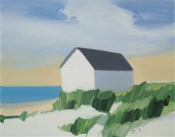 grassy beach house by maureen gallace