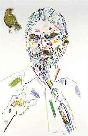 gerry adams by conrad atkinson
