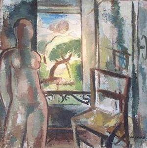nu à sa fenêtre by gio colucci