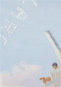 lifeguard with skywriting by john button