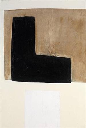 black l on brown/white square bottom by john blackburn