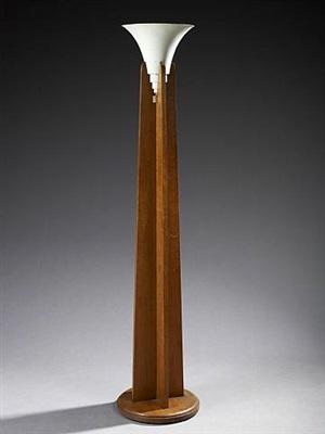 oak floor lamp by eric bagge