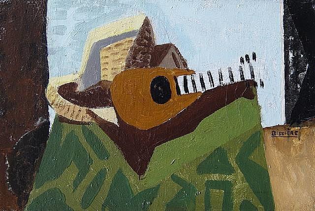 composition avec mandoline by roger bissière