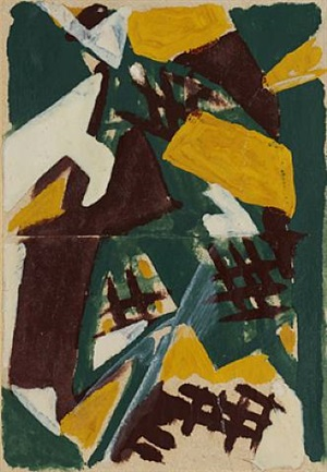"une promenade (also known as ""nature morte n°7"") by mikhail larionov"