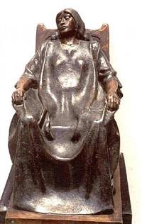 mujer sentada (mecedora) by victor hugo castaneda