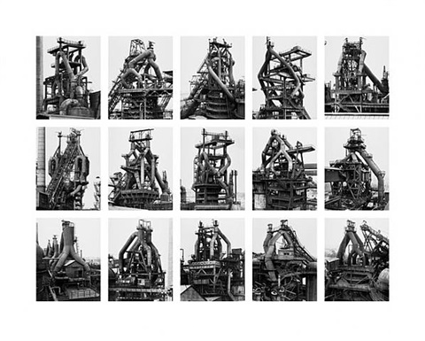 from the series typologies image v: blast furnaces by bernd and hilla becher