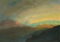 rocky mountain view by albert bierstadt