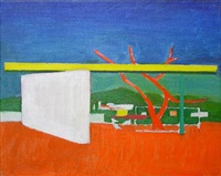 abstract of planes in landscape by louis i. kahn