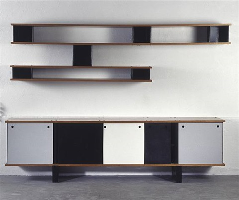 cloud bookshelves and sideboard (mauritanie ensemble) by charlotte perriand