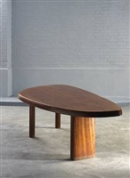 mahogany free form table by charlotte perriand
