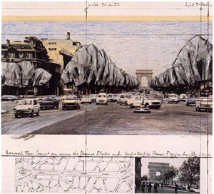 avenue champs elyees by christo and jeanne-claude