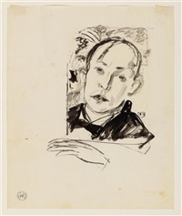 selbstporträt (design for a lithograph) by maurice barraud