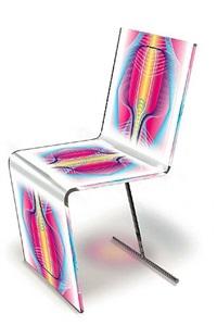 """chaise """"voxels"""" by karim rashid"""