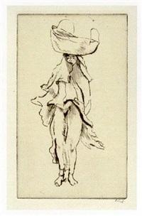 nubisches mädchen by emil orlik