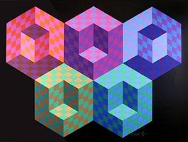 hexa 5 by victor vasarely